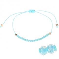 Bohemian Colorful Crystal Beads Bracelet Ethnic Adjustable Rope Bracelets for Women Girls Friendship Bracelet Charm Jewelry Gift green