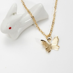 Simple Alloy Butterfly Pendant Necklace Jewelry Gift 1pc gold