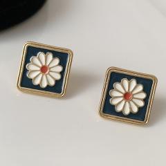 Flower Daisy Enamel Stud Drop Earrings Daisy 3