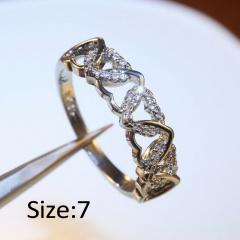 Shiny Heart Oval Zircon Wedding Female Bride Finger Rings Jewelry heart 7