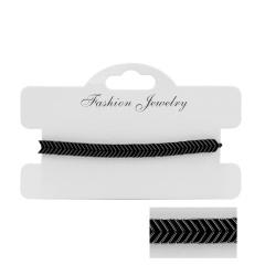 Hand-woven Black Gallstone Adjustable Bracelet Fine arrow
