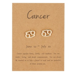 Symbol version of twelve zodiac paper card earrings Cancer