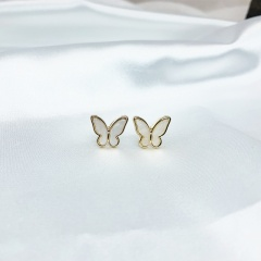 Butterfly wing ear stud earrings Ear stud