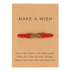 Hand woven 8-character paper card Bracelet / Friendship Bracelet BR20Y0055-1