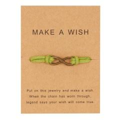 Hand woven 8-character paper card Bracelet / Friendship Bracelet BR20Y0055-2