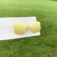 Geometric Earrings Candy Colored Plum Blossom Earrings yellow