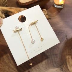 Pearl Geometry Long Earrings 330