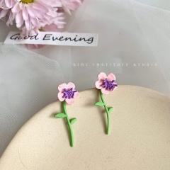 Eight Kinds Of Purple Flower Earrings 334