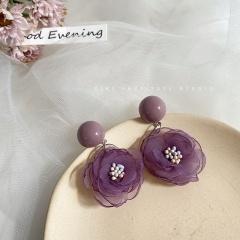 Eight Kinds Of Purple Flower Earrings 337