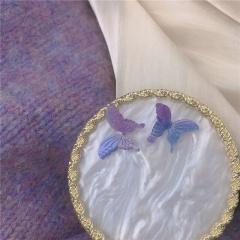 Purple Flower Grape Butterfly Geometric Purple Series Earrings 342