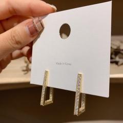 Geometric Rectangular Earring Full Drill Rectangle