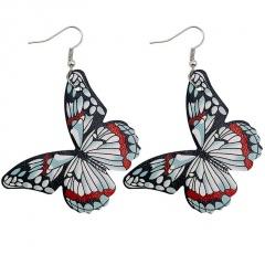 Imitation Butterfly Leather Alloy Ear Hook Earrings Style 1