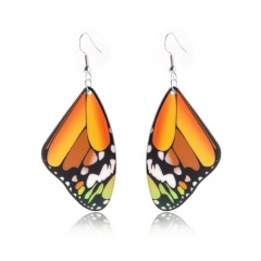 Fashion Butterfly Earrings Yellow