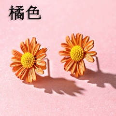 Daisy flower earrings 3