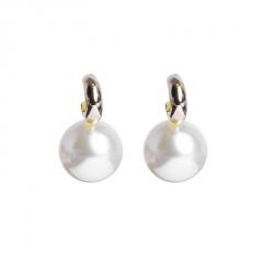 Korean Style Gold Pearl Crystal Stud Earrings Jewelry Pearl