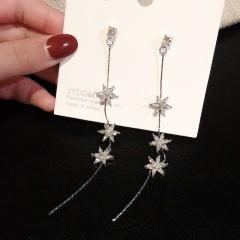 Fashion Crystal Love Long Tassel Earrings ER20Y0414-2