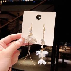 Pearl Rhinestone Stud Earrings 3#gold