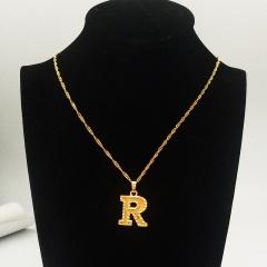 English letter pendant necklace R