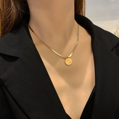 Good Luck Snake-bone Chain Necklace Clavicle Chain Golden