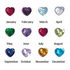 100pcs Heart Mix-Color Crystal Locket Accessories Heart