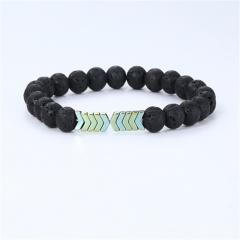 Lava Magnet Energy Bracelet String Green