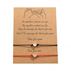 Love 2 knit adjustable lovers paper card bracelet set Love