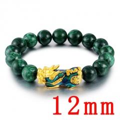 PI xiu elastic bracelet chain of jade discoloring 12mm