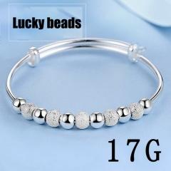 Lucky bead stretch adjustable bracelet 17kg