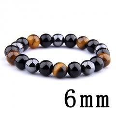 Male tiger eye obsidian hematite elastic bracelet bracelet string 6mm