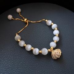 Shell Natural Pearl Opal Adjustable Bracelet Pearl