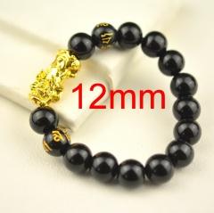 Lucky Pixiu Double Six-character Mantra Transfer Bracelet 12mm