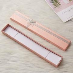 Fashion Women Men Pendant Display Case Packing Gift Box For Necklace Bracelet Pink