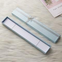 Fashion Women Men Pendant Display Case Packing Gift Box For Necklace Bracelet Blue