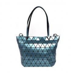 Geometric Ringer Bag One Shoulder Bag Cross Body Bag37*25*13cm Blue