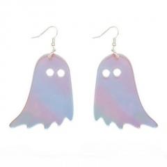 Symphony Laser Big Ghost Halloween Earrings Ghost