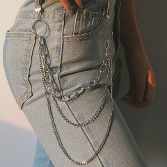 Metal Chain Tassle Pearl Golden Multilayer Waist Chain Body Jewelry Chain