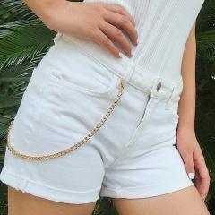 Metal Chain Tassle Pearl Golden Multilayer Waist Chain Body Jewelry Single
