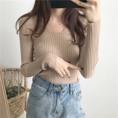 Slim fit with a thick tight-fitting turtleneck sweater for autumn and winter Brown One size