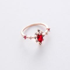 Fashion Colorful Gemstone Rings Diamond Adjustable Rings For Women RI20Y0104-1