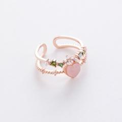 Fashion Colorful Gemstone Rings Diamond Adjustable Rings For Women RI20Y0104-18