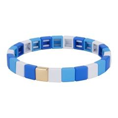 Fashion Colorful Beads Elastic Bracelets Jewelry Wholesale Blue