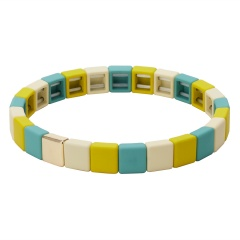 Fashion Colorful Beads Elastic Bracelets Jewelry Wholesale Green