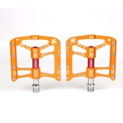 Mountain Bike Sambolin Foot Aluminum Alloy Pedal 6 Bearing Pedal Orange