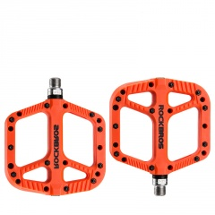Bicycle Pedals Palin Mountain Bike Nylon Pedal Bearings Riding Pedals 12A-Orange