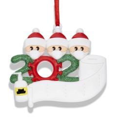 NEW Xmas Christmas Tree Hanging Pendant Family Ornament Decor 3 people