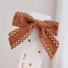 Ins Bow Hairpin All-match Hair Clip Hair Accessories Headwear Orange