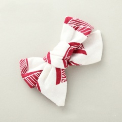 Striped Fabric Handmade Children's Hairpin Hair Accessories Red