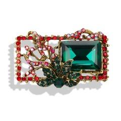 Geometric Flowers Leaves Retro Gemstone Brooch Pin Jewellery Gift Flower 2