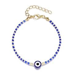 Wholesale Blue Evil Eye Beads Bracelets Blue&White beads