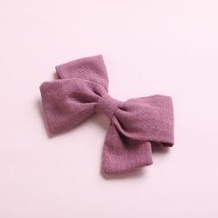 Simple Bow Hairpin Hairclip Multicolor Headwear Purple